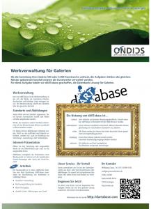 Infoblatt dARTabase für Galerien